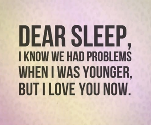 sleep, love, and quote image