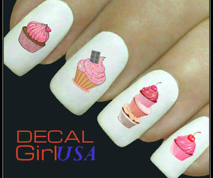 nail art, manicure, and nail decals image