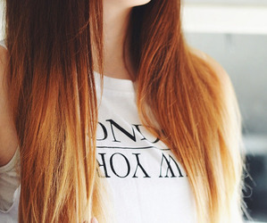 hair, girl, and ombre image