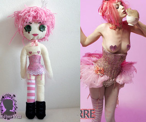 corset, rat, and doll image