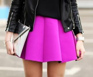 fashion, skirt, and pink image