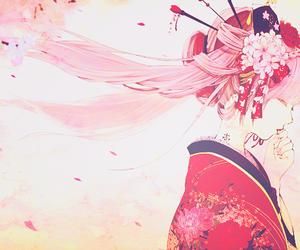 anime, kimono, and anime girl image