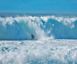 france, summer, and surf image