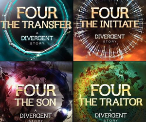 four, book, and divergent image