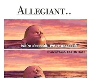 divergent, allegiant, and book image