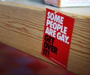 get over it, homophobia, and homosexuality image