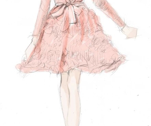 pink, dress, and art image