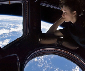 earth, girl, and satellite image