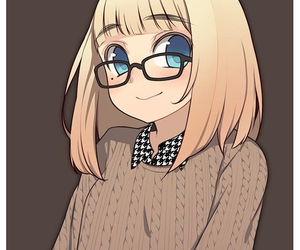 anime girl and glasses image