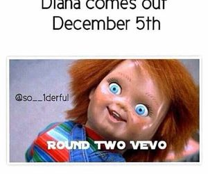 diana, vevo, and one direction image