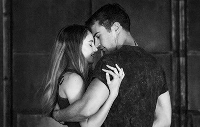 couple, fire, and theo james image