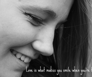 girl, poem, and smile image