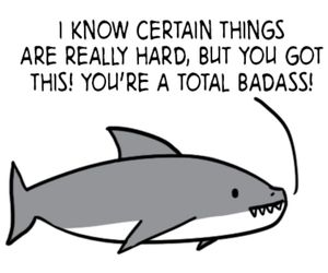 quote, shark, and cute image