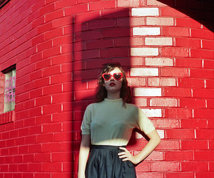 girl, indie, and red image