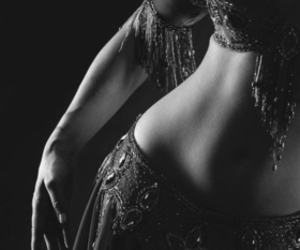 bellydance, photography, and black and white image