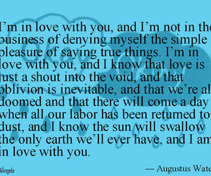 quotes, the fault in our stars, and augustus waters image