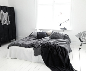 black, white, and home image