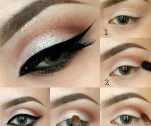 makeup, eyeliner, and eyes image
