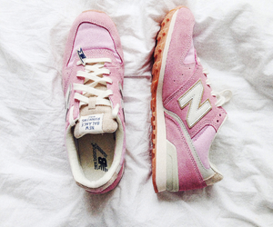 shoes, pink, and new balance image