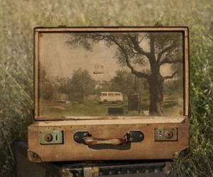 suitcase and art image