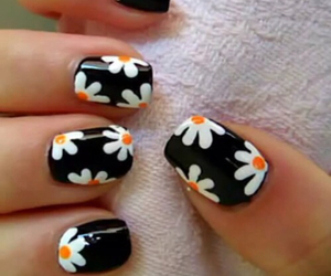 daisies, nails, and love image