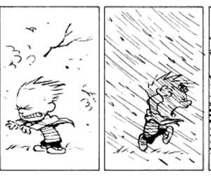 calvin and hobbes, comics, and funny image