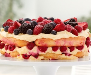 berry, pancakes, and cake image