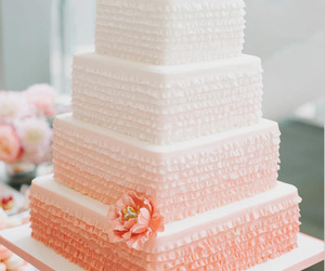 cake, wedding cake, and pink image