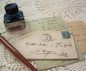 vintage, letters, and ink image