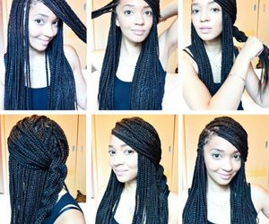 braids, style, and woman image