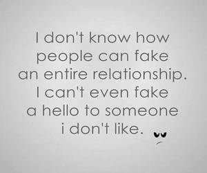 Relationship, fake, and life image