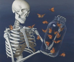 butterfly and skeleton image