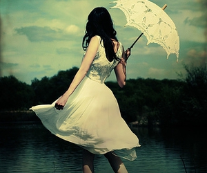 artistic, parasol, and woman image