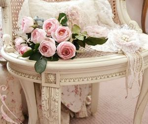 rose, flowers, and girly image