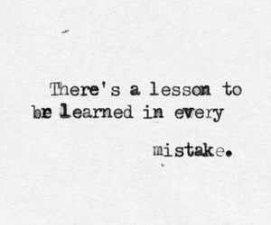 quote, mistakes, and lesson image