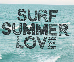 summer, love, and surf image