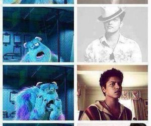 Collage, monsters inc., and bruno mars image