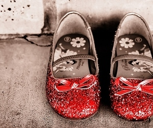 shoes, glitter, and red image