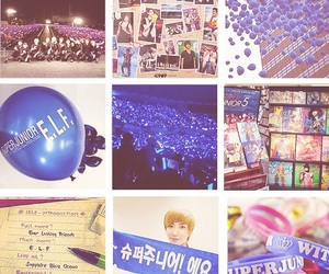 balloons, blue, and concert image