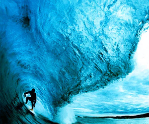 blue, boy, and waves image