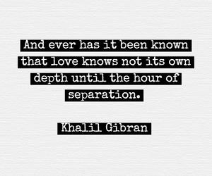love, quote, and separation image