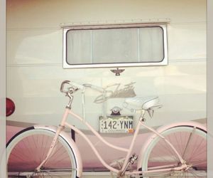 pink, bicycle, and travel image