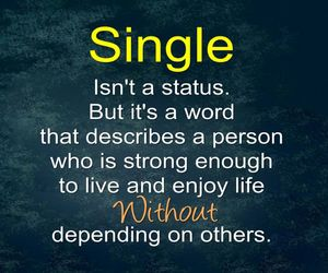 single, quote, and status image