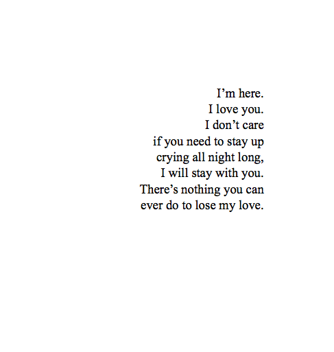 I\'m Here For You uploaded by TheOutcast on We Heart It