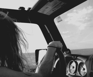 beach, jeep, and ocean image