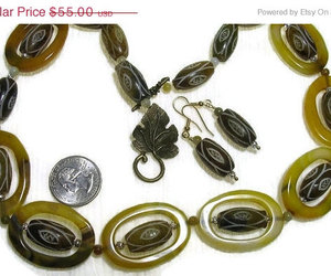 beadednecklace and shades of green necklace image