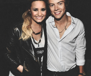 demi lovato, Harry Styles, and one direction image