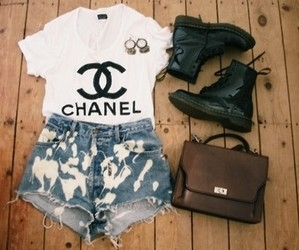 boots, chanel, and cute image