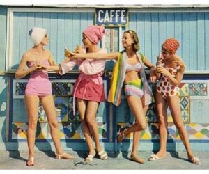 girl, vintage, and summer image