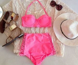 pink, outfit, and summer image